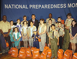 Tom Ridge and Scouts